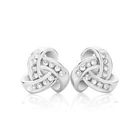 9ct-White-Gold-Diamond-Overlay-Stud-Earrings on sale