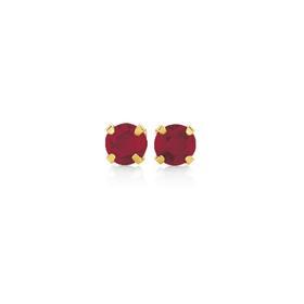 9ct-Gold-Diamond-Ruby-Studs on sale
