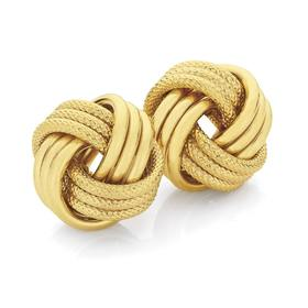 9ct-Gold-Knot-Stud-Earrings on sale