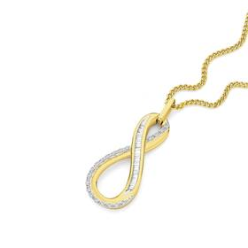 9ct-Gold-Diamond-Infinity-Pendant on sale