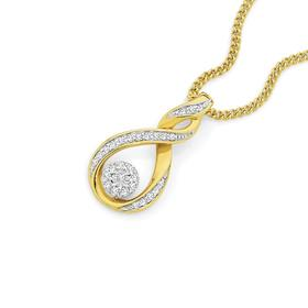 9ct-Gold-Diamond-Twist-Pendant on sale