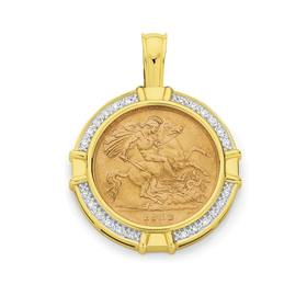 9ct-Gold-Half-Sovereign-Pendant on sale