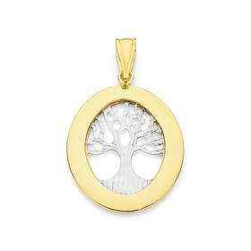 9ct-Two-Tone-Tree-of-Life-Pendant on sale