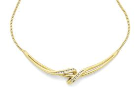 9ct-Diamond-Necklet on sale