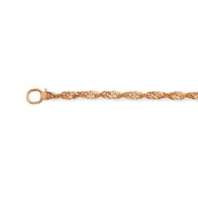 9ct-Rose-Gold-45cm-Singapore-Chain on sale