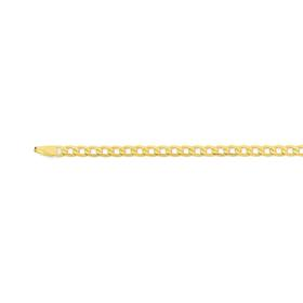 9ct-Gold-45cm-Bevelled-Curb-Chain on sale