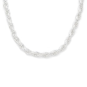 Silver-45cm-Solid-Rope-Chain on sale
