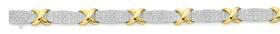 9ct-Gold-Two-Tone-Diamond-Bracelet on sale