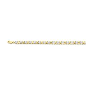 9ct-Gold-Diamond-XOXO-Bracelet on sale