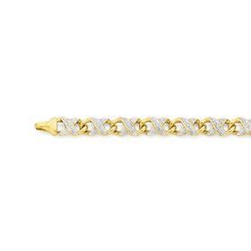 9ct-Gold-Diamond-Infinity-Bracelet on sale