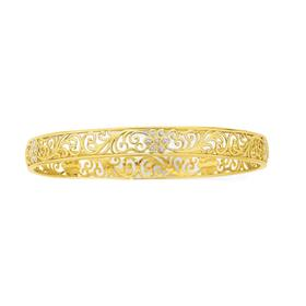 9ct-Gold-Two-Tone-65mm-Solid-Bangle on sale