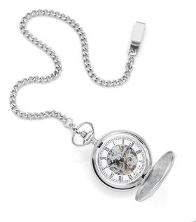 Elite-Mens-Manual-Skeleton-Pocket-Watch-Box-Set on sale