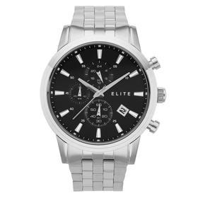 Elite-Mens-Silver-Tone-Watch on sale