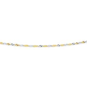 9ct-Gold-Two-Tone-45cm-Solid-Singapore-Chain on sale