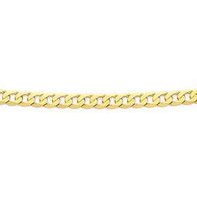 Solid-9ct-Gold-55cm-Flat-Curb-Chain on sale