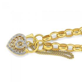 9ct-Gold-19cm-Solid-Oval-Belcher-Bracelet on sale