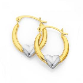 9ct-Gold-Two-Tone-Creole-Earrings on sale