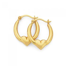 9ct-Gold-Creole-Earrings on sale