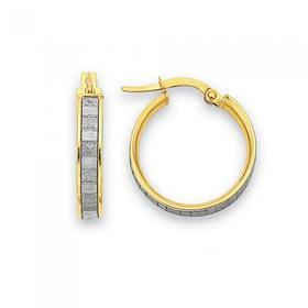 9ct-Gold-Medium-Stardust-Hoop-Earrings on sale