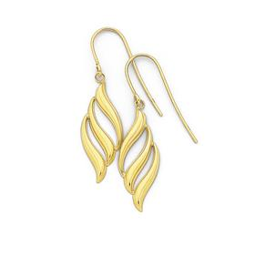 9ct-Gold-Flame-Drop-Earrings on sale