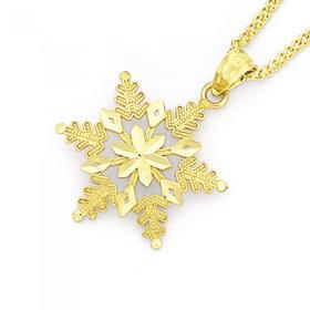 9ct-Gold-Large-Snowflake-Charm on sale