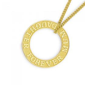 9ct-Gold-Mum-Daughter-Forever-Circle-Pendant on sale