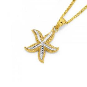 9ct-Gold-Two-Tone-Starfish-Pendant on sale