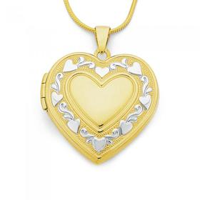9ct-Gold-Two-Tone-Heart-Locket on sale