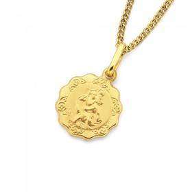 9ct-Gold-St-Christopher-Medal on sale
