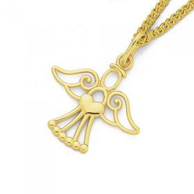 9ct-Gold-Childrens-Angel-Pendant on sale