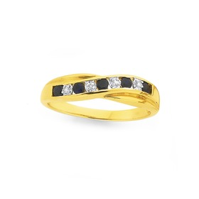 9ct-Gold-Sapphire-Diamond-Crossover-Band on sale