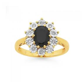 9ct-Gold-Sapphire-Diamond-Oval-Royal-Ring on sale