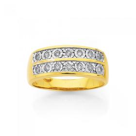 9ct-Gold-Diamond-Channel-Set-Ring on sale
