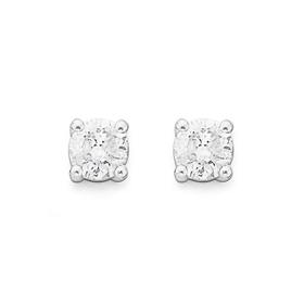 9ct-Gold-Round-Brilliant-Cut-Diamond-Stud-Earrings on sale
