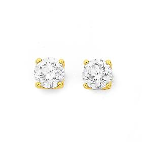 18ct-Gold-Diamond-Stud-Earrings on sale
