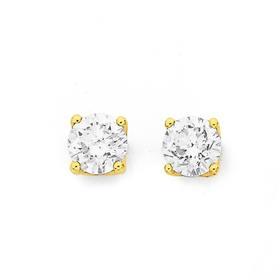 18ct-Gold-Diamond-Stud-Earrings on sale