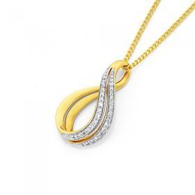 9ct-Gold-Diamond-Twist-Pendant on sale