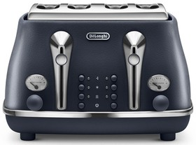 NEW-DeLonghi-Icona-Elements-4-Slice-Toaster-Ocean-Blue-CTOE-4003.BL on sale