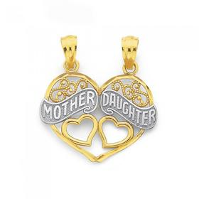 9ct-Gold-Two-Tone-Mother-Daughter-Share-Pendant on sale