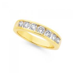 9ct-Gold-Diamond-Anniversary-Band on sale