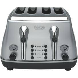 Icona-4-Slice-Toaster-Silver on sale