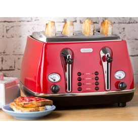 Icona-4-Slice-Toaster-Red on sale