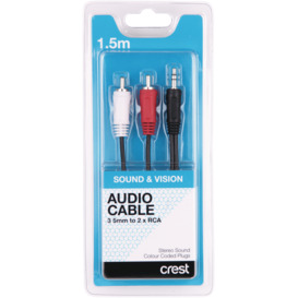 Stereo-Audio-Cable-3.5mm-to-2-x-RCA-1.5m on sale