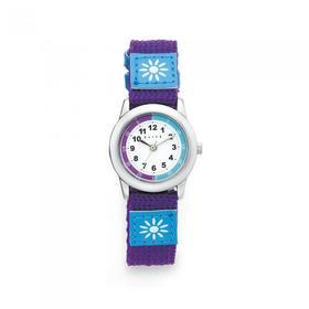 Elite-Kids-Purple-Time-Teacher-Flower-Strap-Watch on sale