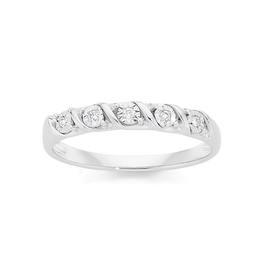9ct-White-Gold-Diamond-Round-Brilliant-Cut-Miracle-Set-Twist-Anniversary-Ring on sale