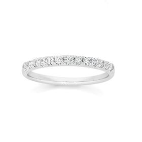 18ct-White-Gold-Diamond-Band on sale