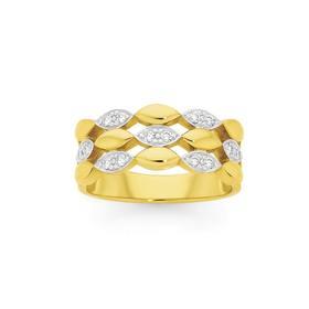 9ct-Gold-Diamond-Three-Row-Marquise-Shape-Band on sale
