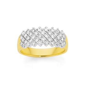 9ct-Gold-Diamond-Wide-Band on sale
