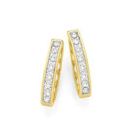 9ct-Gold-Diamond-Huggie-Earrings on sale