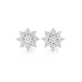 9ct-Gold-Diamond-Miracle-Set-Starburst-Stud-Earrings on sale